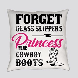 This Princess Wears Cowboy Boots Everyday Pillow
