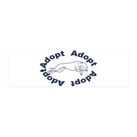 Adopt V2.0 Blue 21x7 Wall Peel