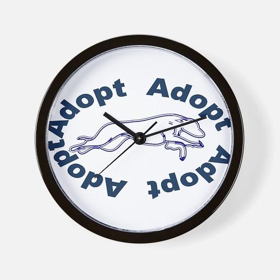 Adopt V2.0 Blue Wall Clock