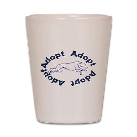 Adopt V2.0 Blue Shot Glass