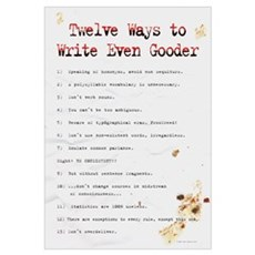 How to Write Even Gooder 23x35 ,SloppyTypist Canvas Art