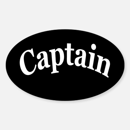 CAPTAIN Sticker (Oval)