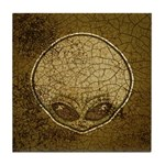 The Visitor (Gray) (Distressed) Tile Coaster