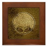 The Visitor (Gray) (Distressed) Framed Tile
