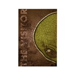 The Visitor (Green) (Distressed) Rectangle Magnet