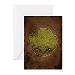 The Visitor (Green) (Distressed) Greeting Cards (P