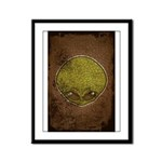 The Visitor (Green) (Distressed) Framed Panel Prin