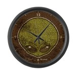The Visitor (Green) (Distressed) Large Wall Clock