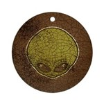 The Visitor (Green) (Distressed) Ornament (Round)