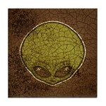 The Visitor (Green) (Distressed) Tile Coaster