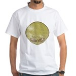 The Visitor (Green) (Distressed) White T-Shirt