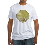 The Visitor (Green) (Distressed) Fitted T-Shirt