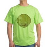 The Visitor (Green) (Distressed) Green T-Shirt