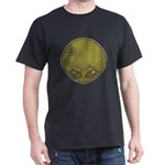 The Visitor (Green) (Distressed) Dark T-Shirt