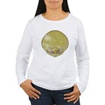 The Visitor (Green) (Distressed) Women's Long Slee