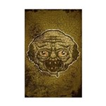 The Zombie (Distressed) Mini Poster Print