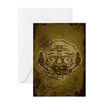 The Zombie (Distressed) Greeting Card