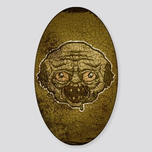 The Zombie (Distressed) Sticker (Oval)