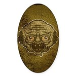 The Zombie (Distressed) Sticker (Oval 50 pk)