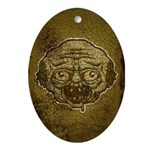 The Zombie (Distressed) Ornament (Oval)
