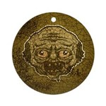 The Zombie (Distressed) Ornament (Round)
