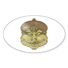 The Witch (Distressed) Sticker (Oval 50 pk)