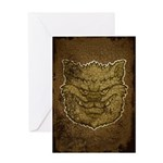 The Werewolf (Gray) (Distressed) Greeting Card