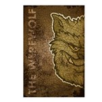 The Werewolf (Gray) (Distressed) Postcards (Packag