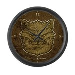 The Werewolf (Gray) (Distressed) Large Wall Clock