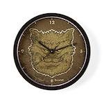 The Werewolf (Gray) (Distressed) Wall Clock