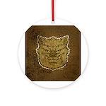 The Werewolf (Gray) (Distressed) Ornament (Round)