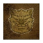 The Werewolf (Gray) (Distressed) Tile Coaster
