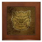 The Werewolf (Gray) (Distressed) Framed Tile