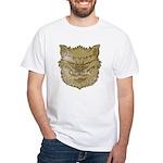 The Werewolf (Gray) (Distressed) White T-Shirt
