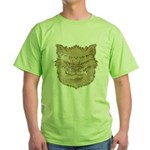The Werewolf (Gray) (Distressed) Green T-Shirt