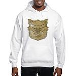 The Werewolf (Gray) (Distressed) Hooded Sweatshirt