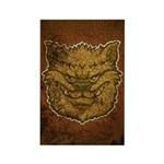 The Werewolf (Brown) (Distressed) Rectangle Magnet
