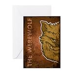 The Werewolf (Brown) (Distressed) Greeting Card