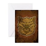 The Werewolf (Brown) (Distressed) Greeting Cards (