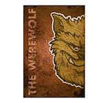 The Werewolf (Brown) (Distressed) Postcards (Packa