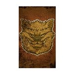 The Werewolf (Brown) (Distressed) Sticker (Rectang