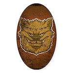 The Werewolf (Brown) (Distressed) Sticker (Oval)