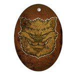 The Werewolf (Brown) (Distressed) Ornament (Oval)
