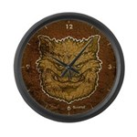The Werewolf (Brown) (Distressed) Large Wall Clock