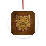 The Werewolf (Brown) (Distressed) Ornament (Round)