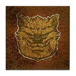 The Werewolf (Brown) (Distressed) Tile Coaster