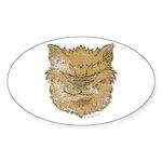 The Werewolf (Brown) (Distressed) Sticker (Oval 50