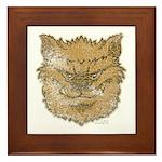 The Werewolf (Brown) (Distressed) Framed Tile