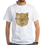 The Werewolf (Brown) (Distressed) White T-Shirt