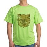 The Werewolf (Brown) (Distressed) Green T-Shirt